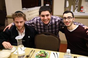 "[my highlhight was] ""Seeing everyone on the program getting involved in the discussions,"" -Avi Solkoff (L-R) Aaron Lasker, University of Pennsylvania; Avi Solkoff, SUNY Albany; Eliran Rebeyev, SUNY Albany"